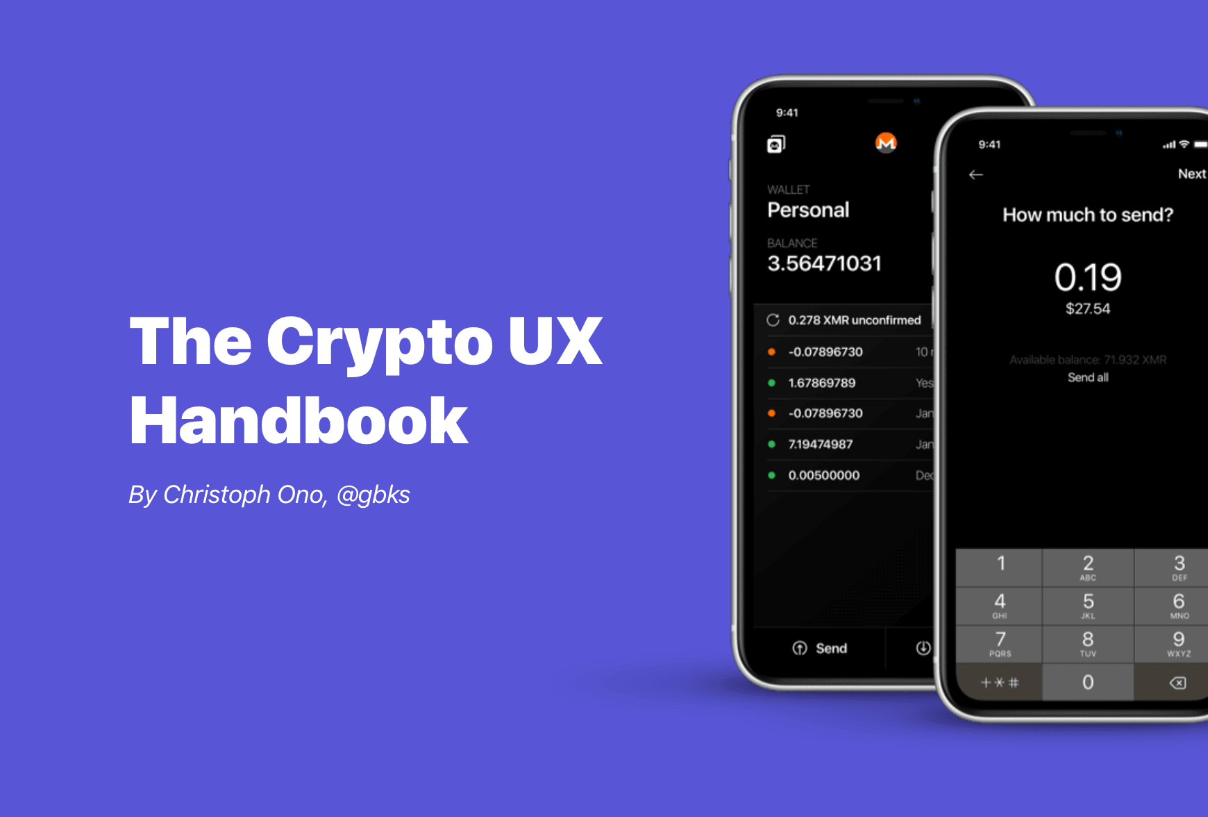 The Crypto UX Handbook by @gbks
