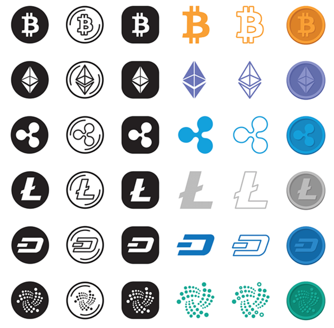 Cryptocurrency Icons by Junik Studio